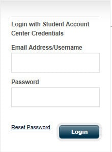 screen shot of bill pay login