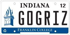 FC license plate