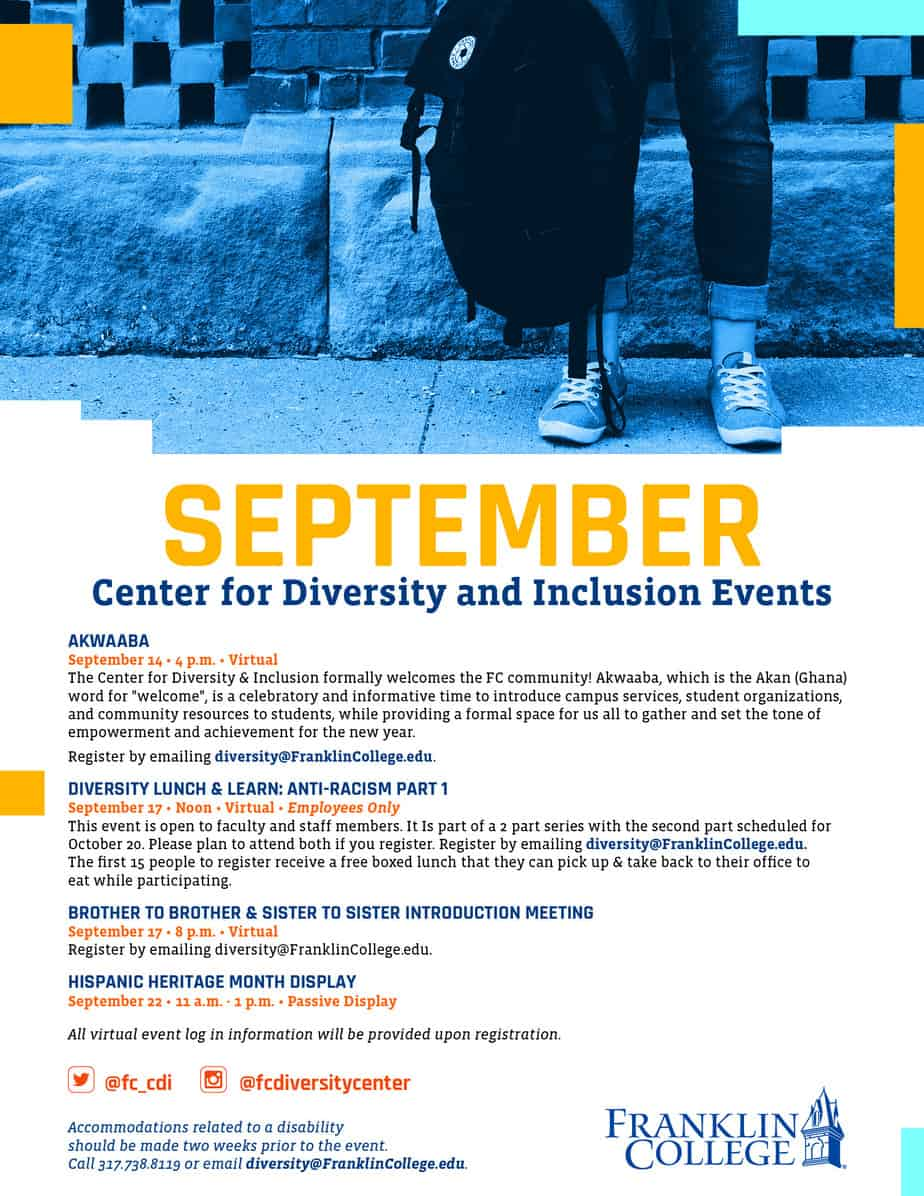 September CDI events 2020