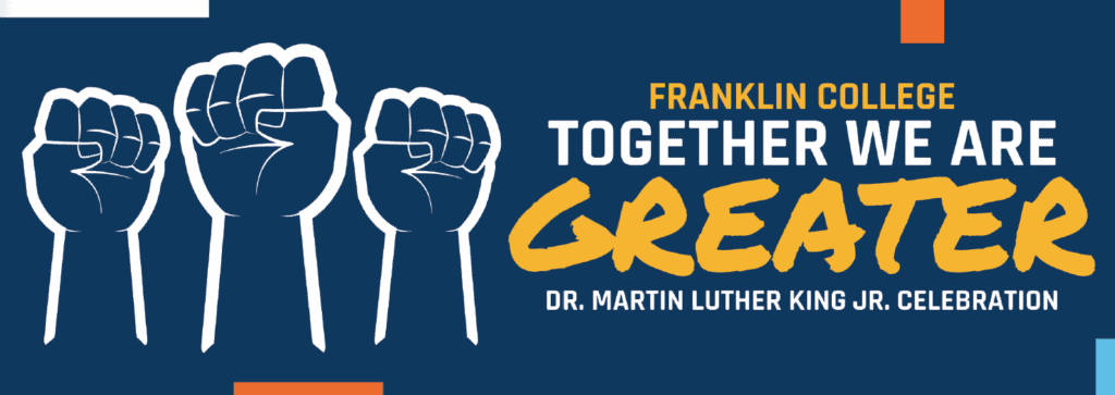 MLK Day 2021 graphic -- together we are greater