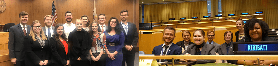 Mock trial and student UN team